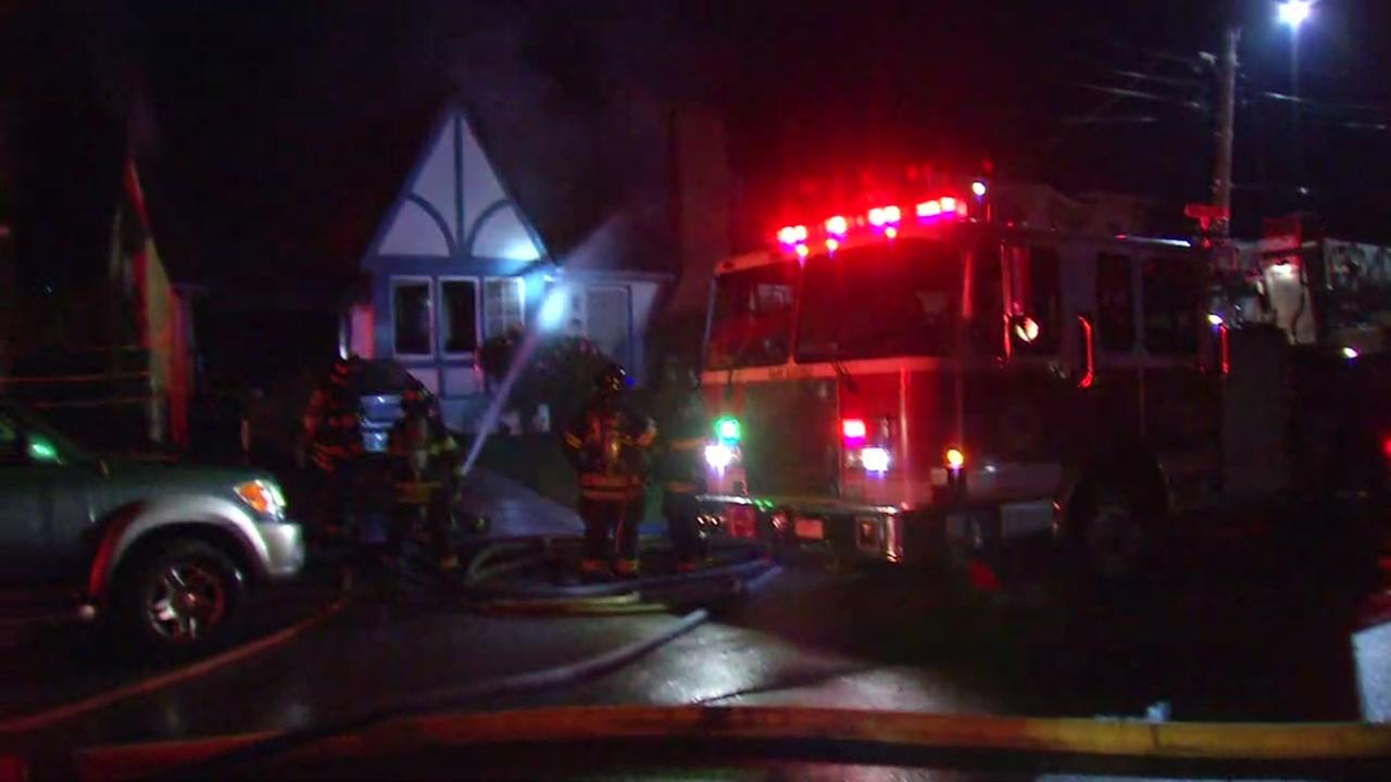 One person was killed in a house fire in San Mateo, Calif. on Friday, Nov. 25, 2016.