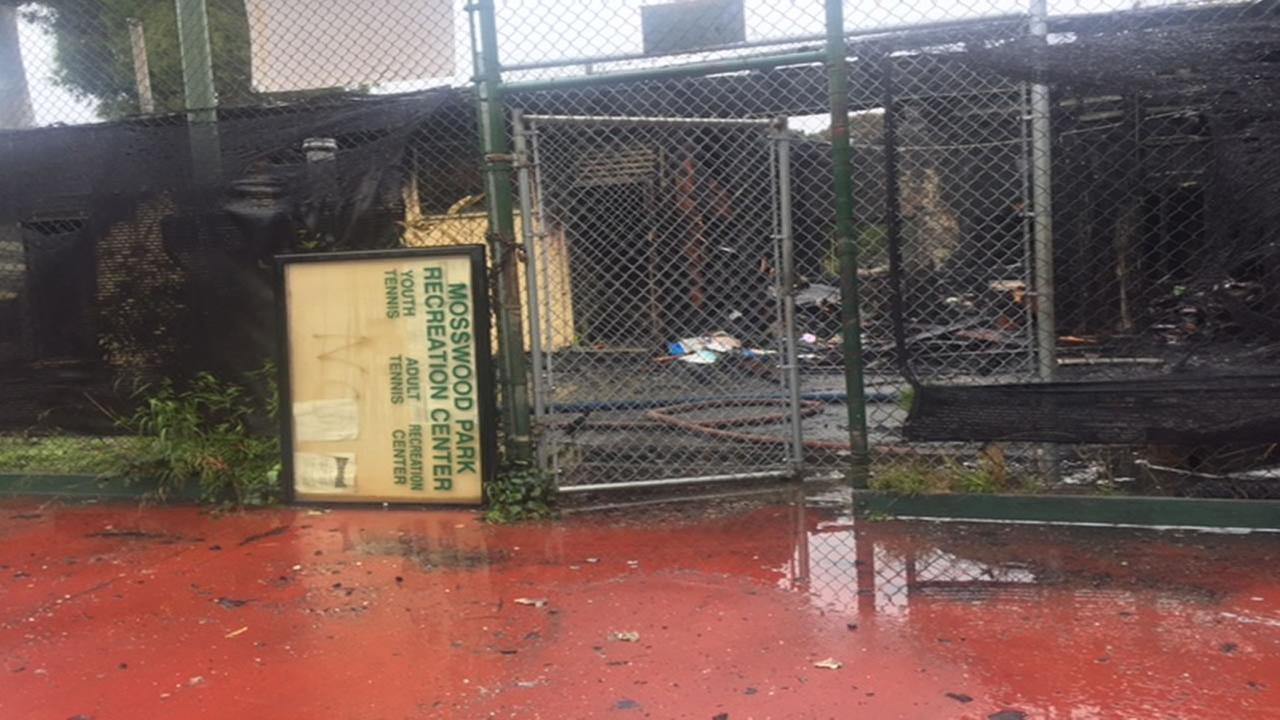 A structure fire broke out the morning of Nov. 26 in Oakland, Calif. at the Mosswood Performing Arts Center.