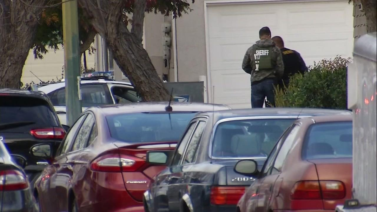 Police surrounded a San Jose home on Nov. 30, 2016.