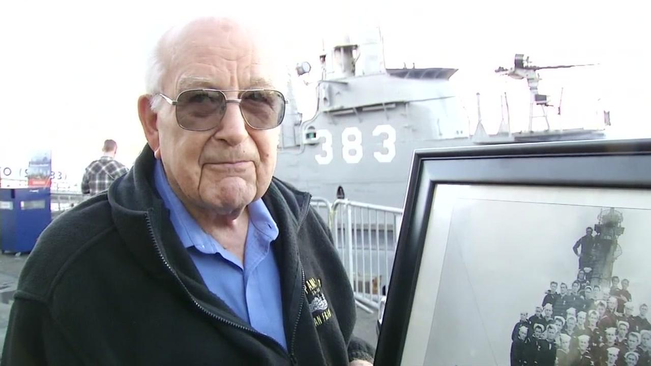 Spencer Stimler was reunited with a ship he worked on during WWII on Nov. 30, 2016.