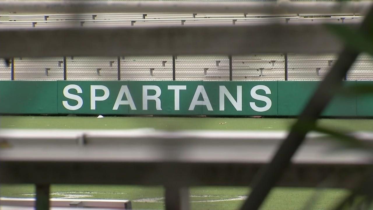 A Spartans sign hangs at De La Salle High School in Concord, Calif. on Friday, Dec. 2, 2016.