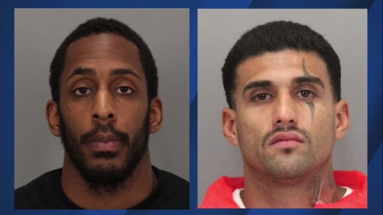 Santa Clara County inmates (left ) Laron Campbell and (right) Rogelio Chavez