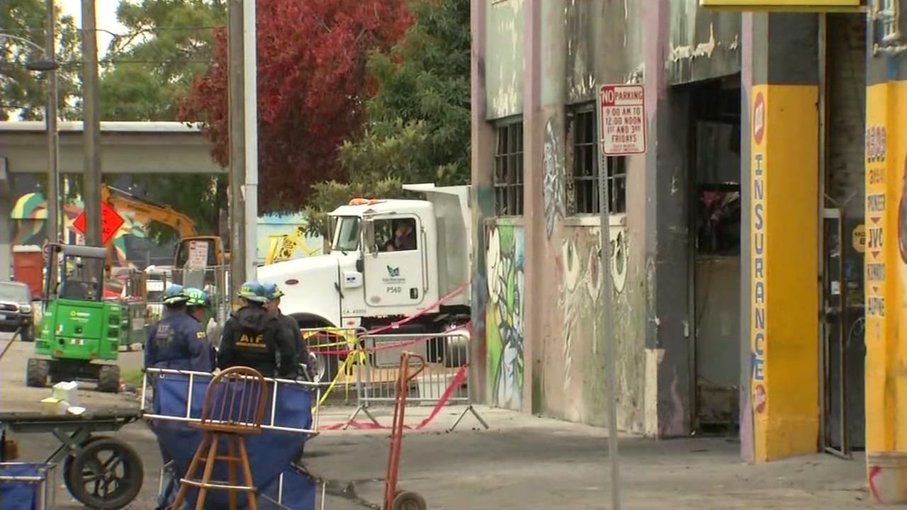 Ghost Ship warehouse fire scene, Oakland, California, Wednesday, December 7, 2016.