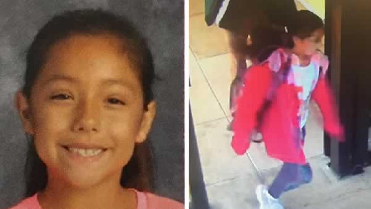 The San Mateo County Sheriff is searching for 9-year-old Angelina. She was last seen wearing the outfit pictured on the right.