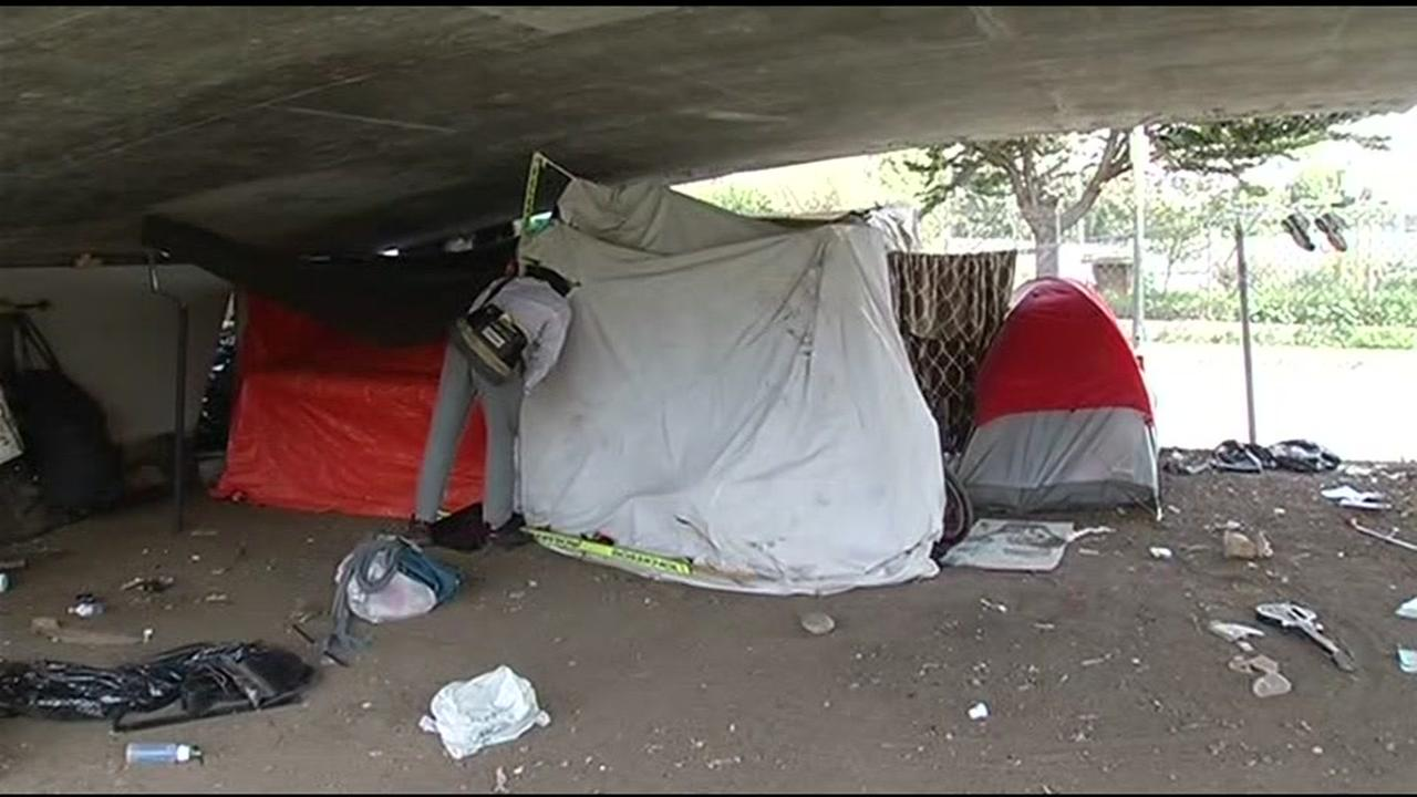 This is an undated image of a homeless encampment in San Francisco.