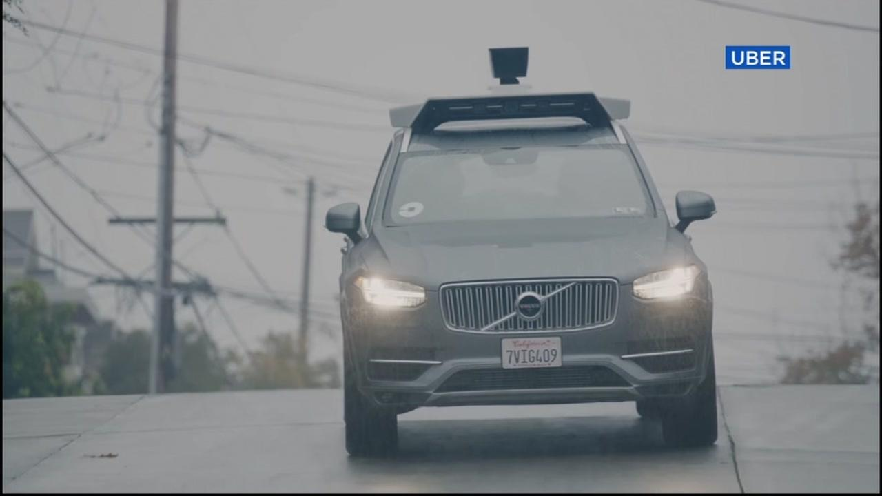 This is an undated image of an Uber self-driving vehicle.