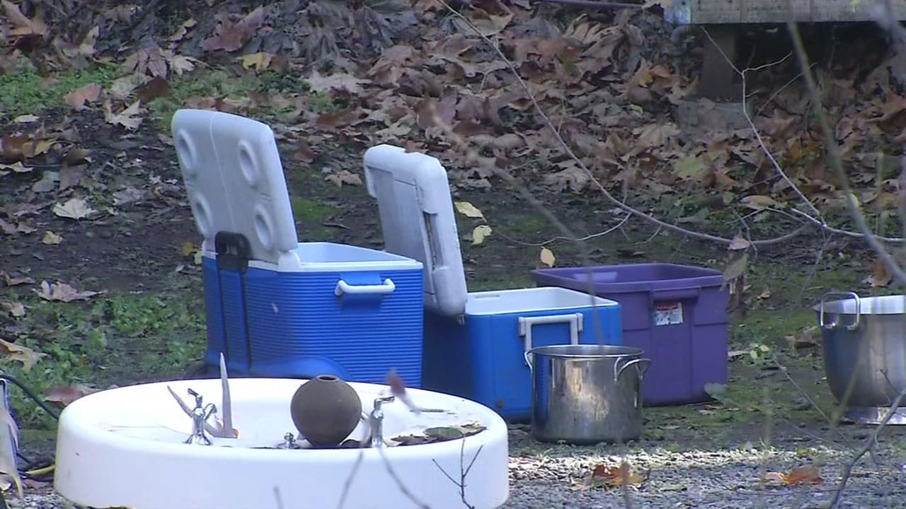 Coolers sit outside in the Twin Creeks apartment complex in San Jose, Calif. on Dec. 19, 2016.