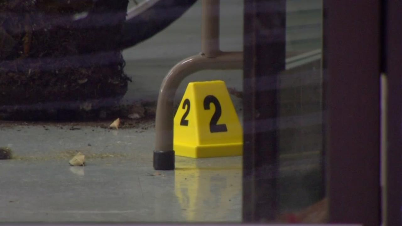 Police investigate the shooting of a man and his dog at Pawn Advantage in Vallejo, Calif. on Dec. 20, 2016.