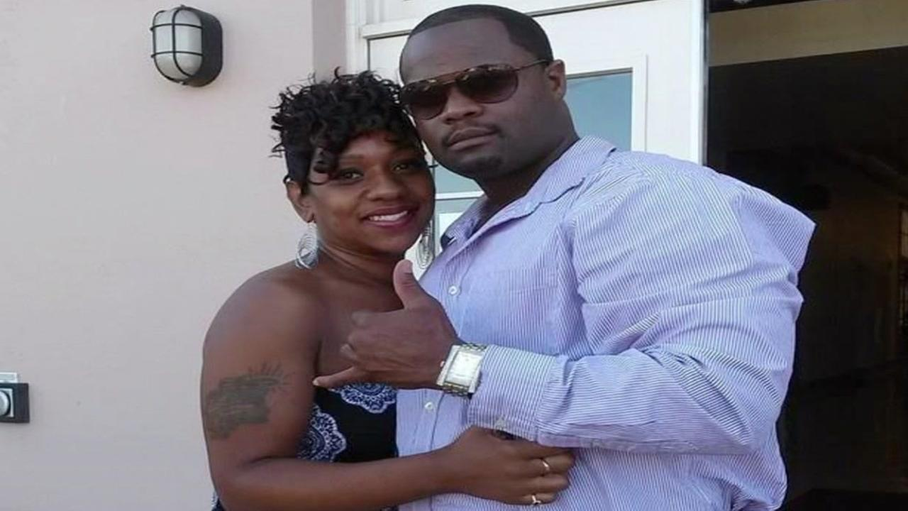 This is an undated image of Tyrone Griffin Jr. and his wife Nicole Simmons.