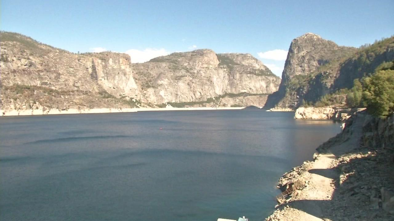 This is an undated image of the water supply filtered through a Hetch Hetchy system for San Francisco.