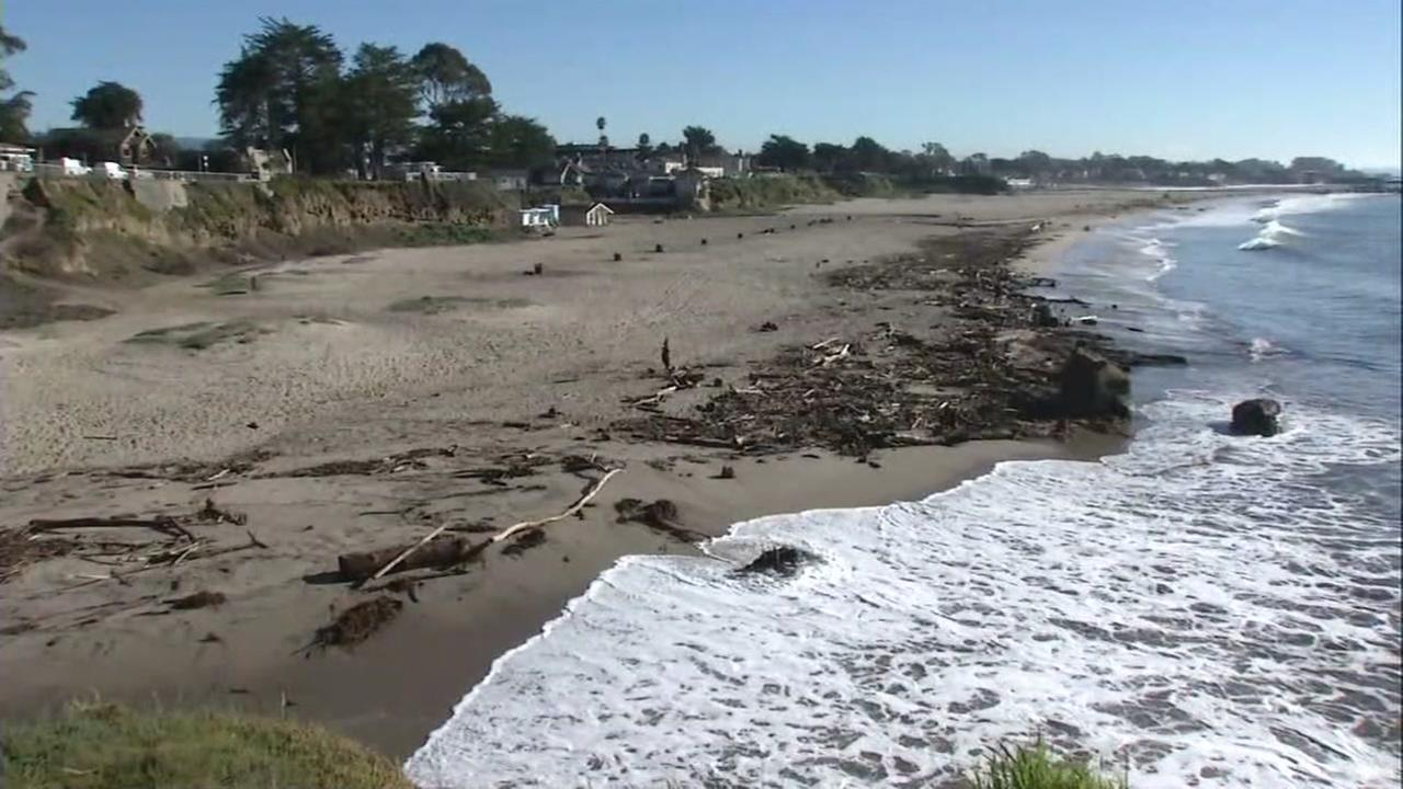 A beach is seen in Santa Cruz, Calif. in this undated image.