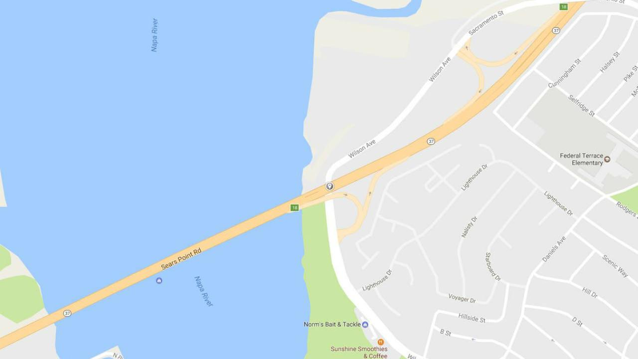 A map of Highway 37 in Vallejo is seen in this undated Google image.