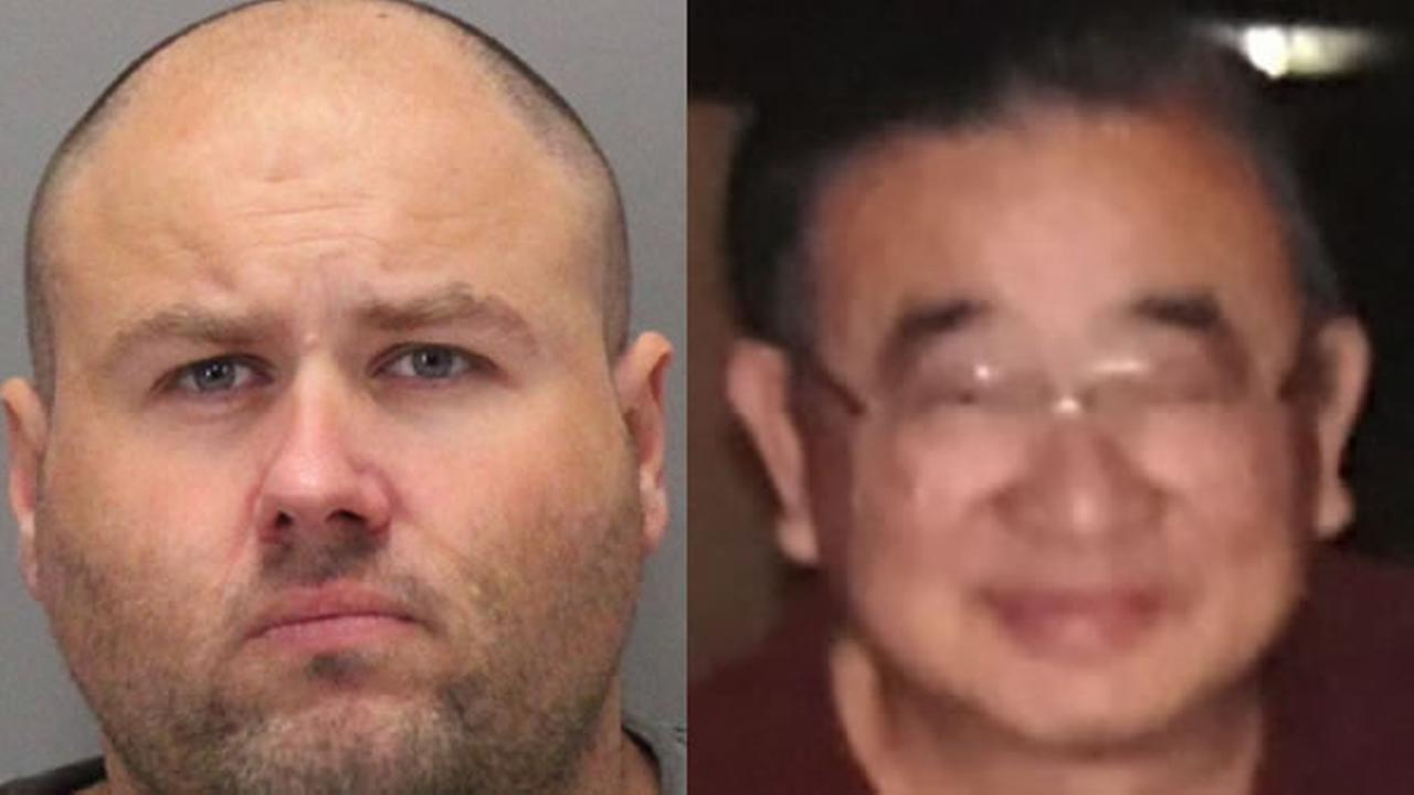 Detectives arrested Christopher Ellebracht (left) in connection with the murder of Gin Lu Tommy Shwe (right).