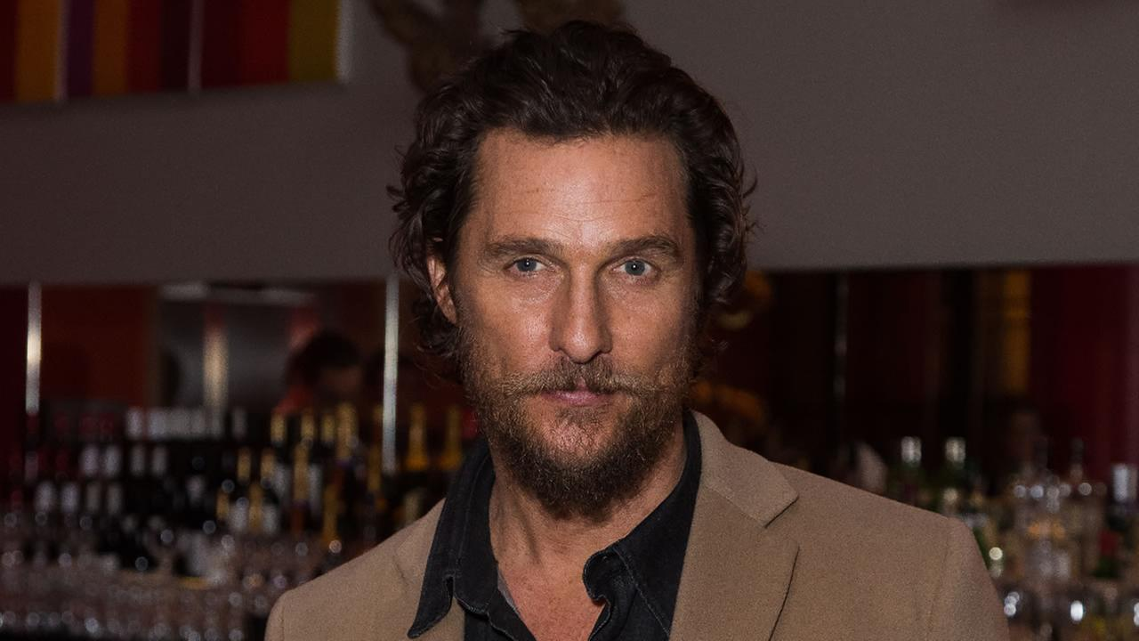 US actor Matthew McConaughey poses for photographers upon arrival at the screening of the film Gold, in London, Friday, Jan. 20, 2017.