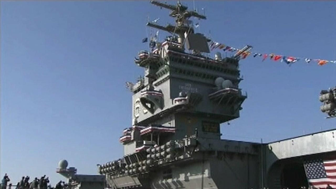 U.S. Navy decommissions U.S.S. Enterprise aircraft carrier