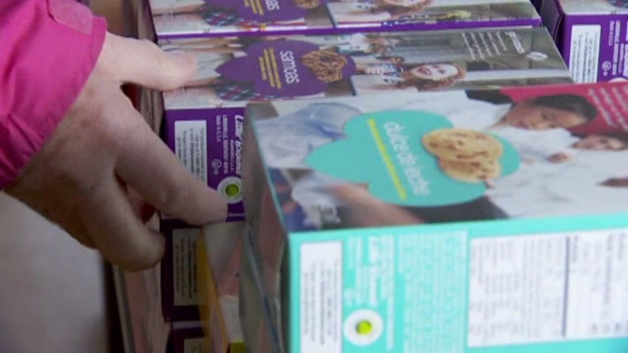 Boxes of Girl Scout cookies are seen in this undated image.