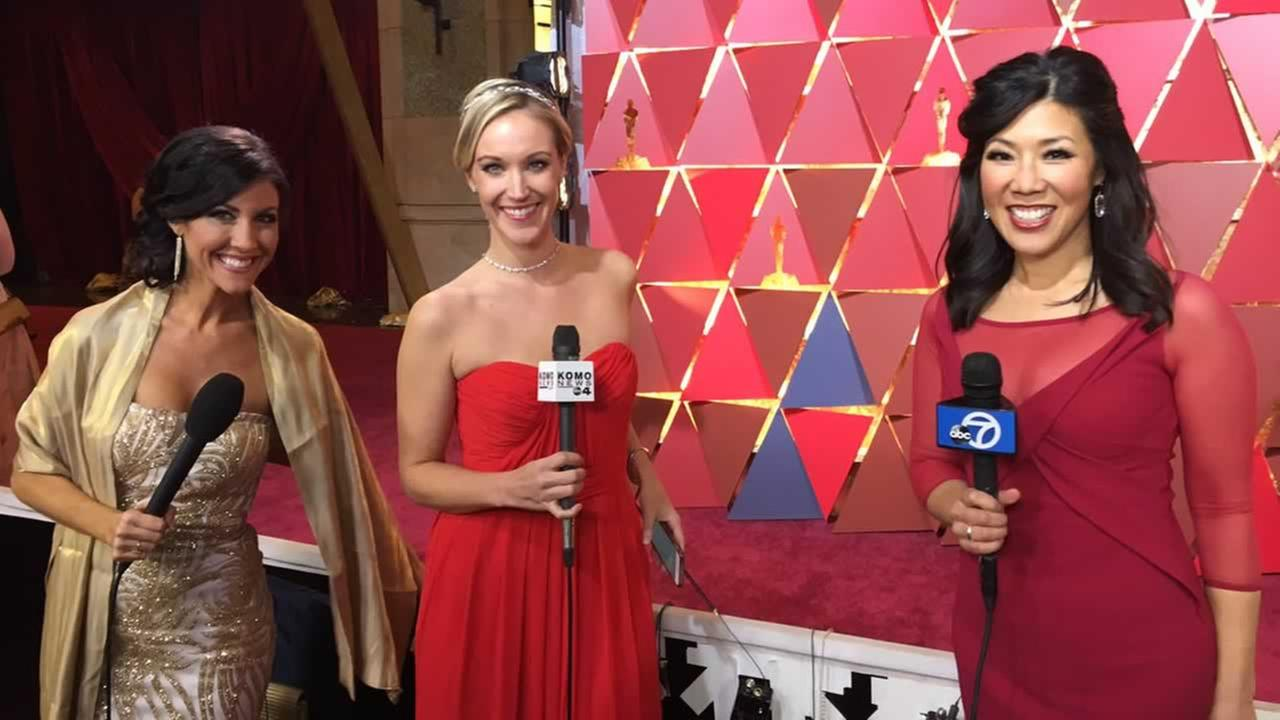 ABC7 News Anchor Kristen Sze reports on the Oscars from Hollywood, Calif. on Sunday, Feb. 26, 2017.