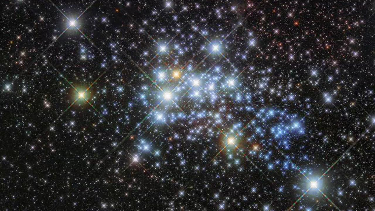 The European Space Agency and Nasa provided an incredible Hubble Telescope picture of a young super star cluster known as Westerlund 1.