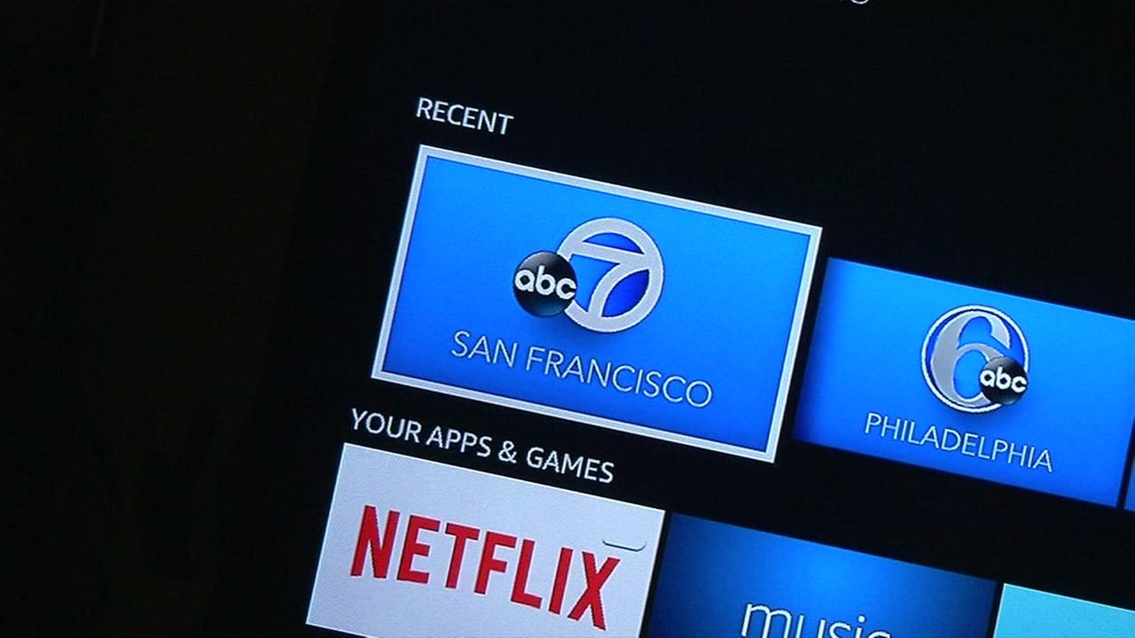 This undated image shows the ABC7 News App thats now available on Amazon Fire.
