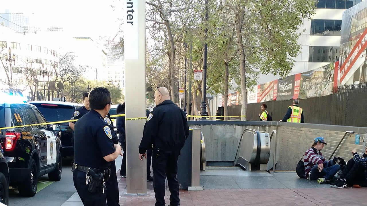 San Franciscos Civic Center Station was shut down Friday, March 17, 2017 due to a suspicious package.