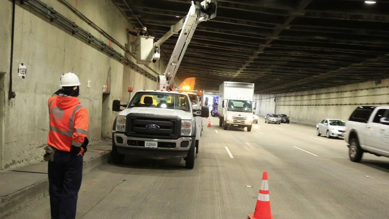 FILE -- Bay Bridge Tunnel