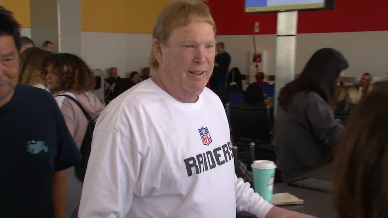 Oakland Raiders owner Mark Davis at Oakland International Airport, Sunday, March 26, 2017.