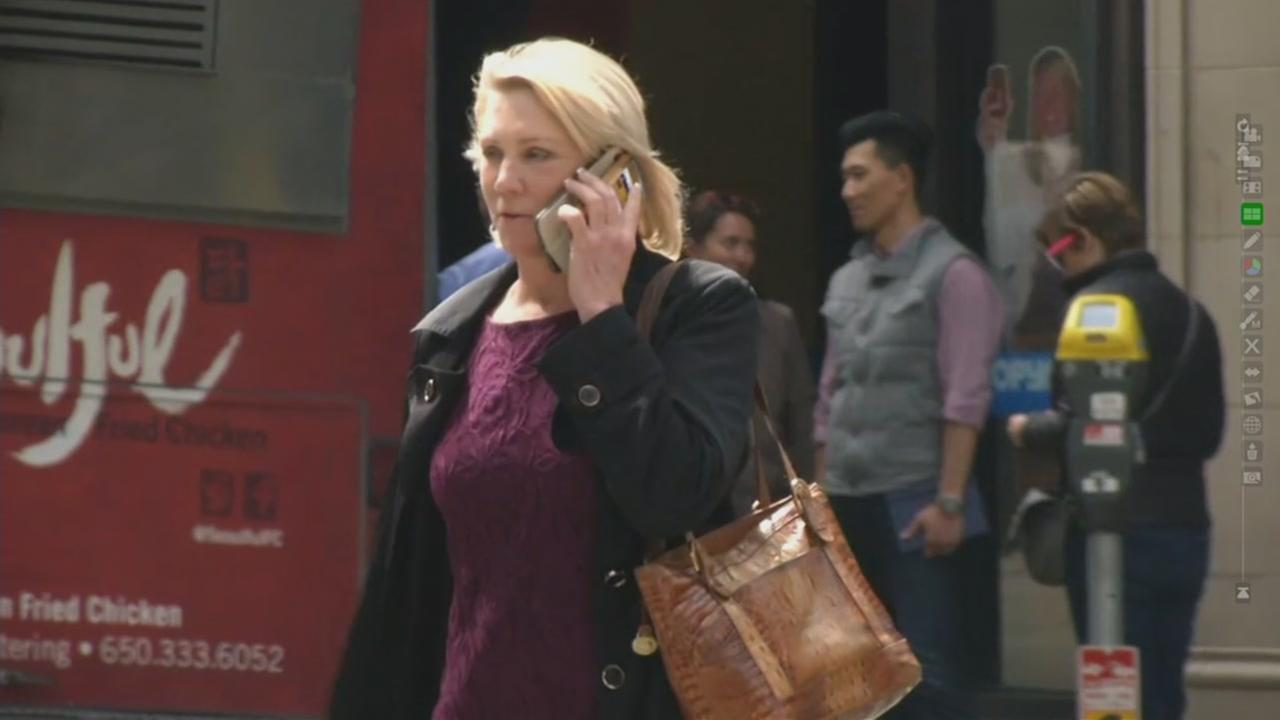A woman is seen talking on a cellphone in this undated image.