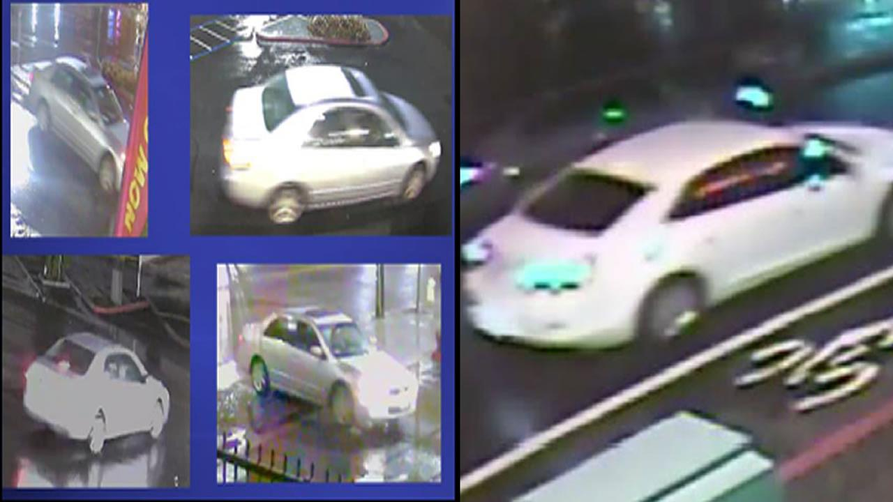 A silver Honda Accord and white Chevy Malibu are vehicles of interest in an Oakland homicide investigation.
