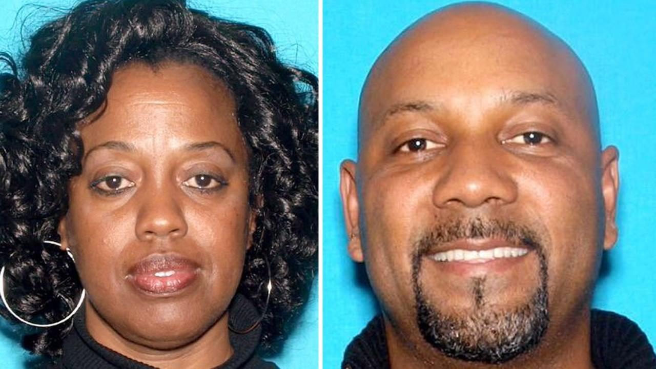 These undated images show 53-year-old Karen Smith and 53-year-old Cedric Anderson who died in an apparent murder-suicide at a San Bernardino,  Calif. school on April 10, 2017.