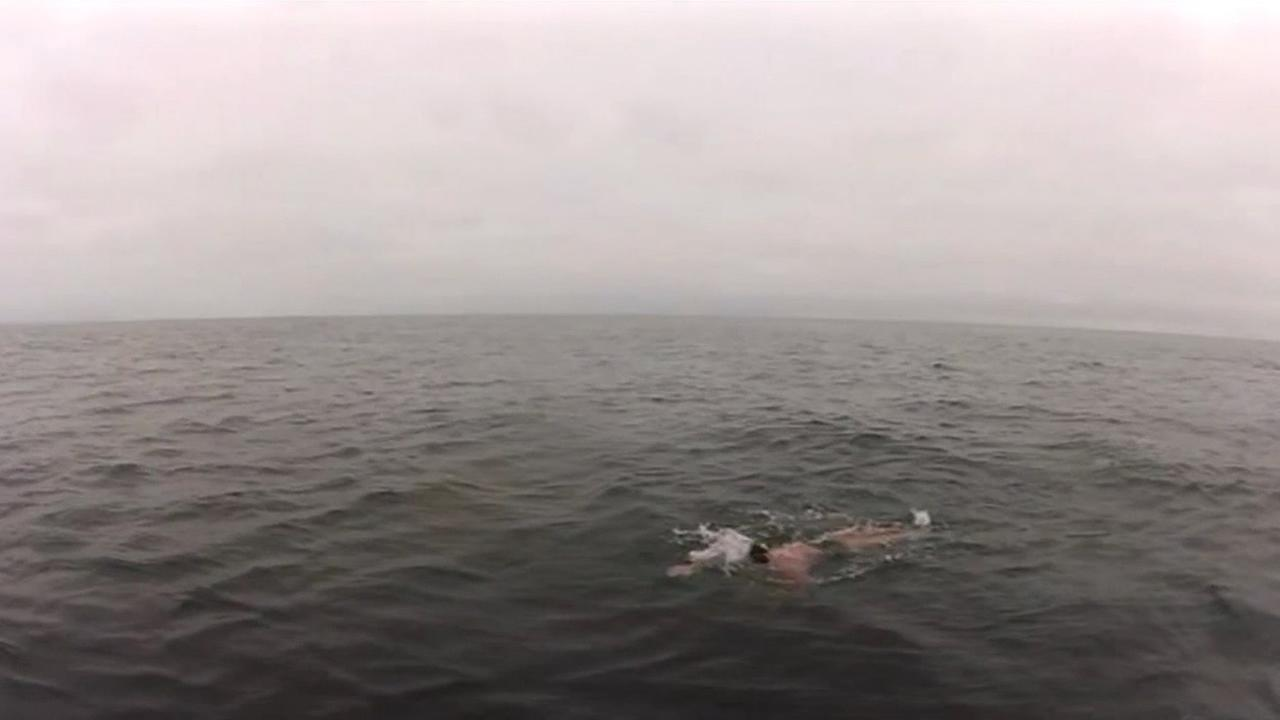 North Bay resident Joseph Locke has completed a historic 30 miles swim from the Farallon Islands to the south tower of the Golden Gate Bridge.