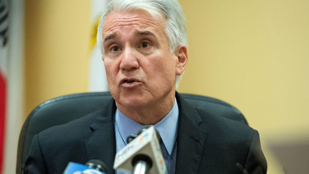 San Francisco District Attorney George Gascon speaks during a news conference at the Hall of Justice in San Francisco on Wednesday, Aug. 19, 2015.