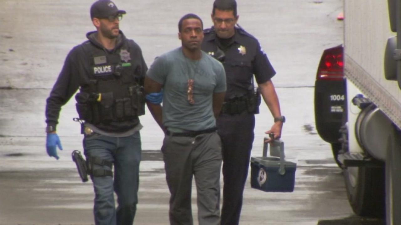 Police arrest 39-year-old Kori Ali Muhammad in Fresno, Calif. on Tuesday, April 18, 2017.