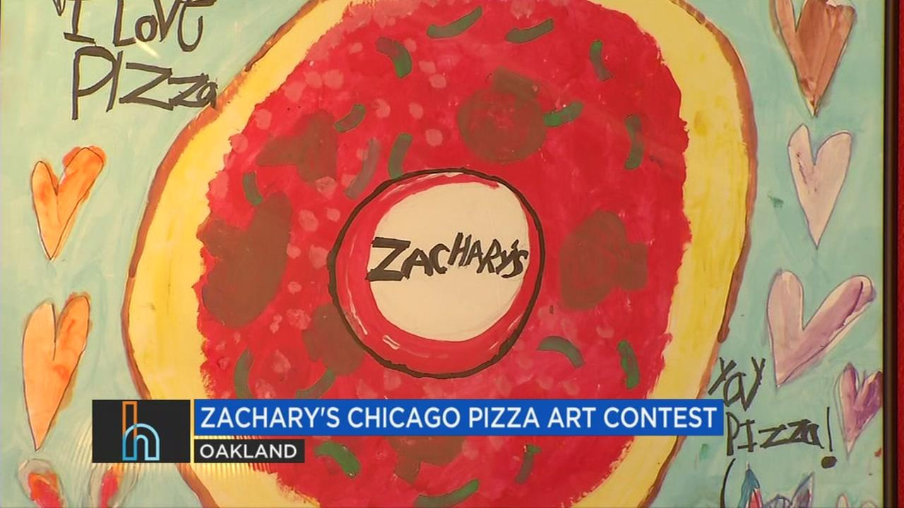 Art at Zacharys Chicago Pizza in Oakland, Calif. is seen in this undated image.