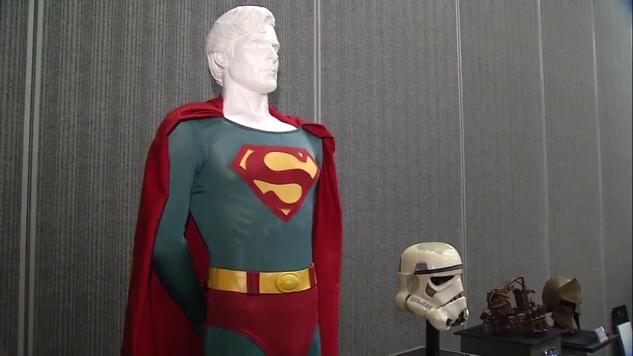 This Superman suit worn by Christopher Reeve is up for auction at the Silicon Valley Comic Con in San Jose, Calif., which kicks off Friday, April 21, 2017.