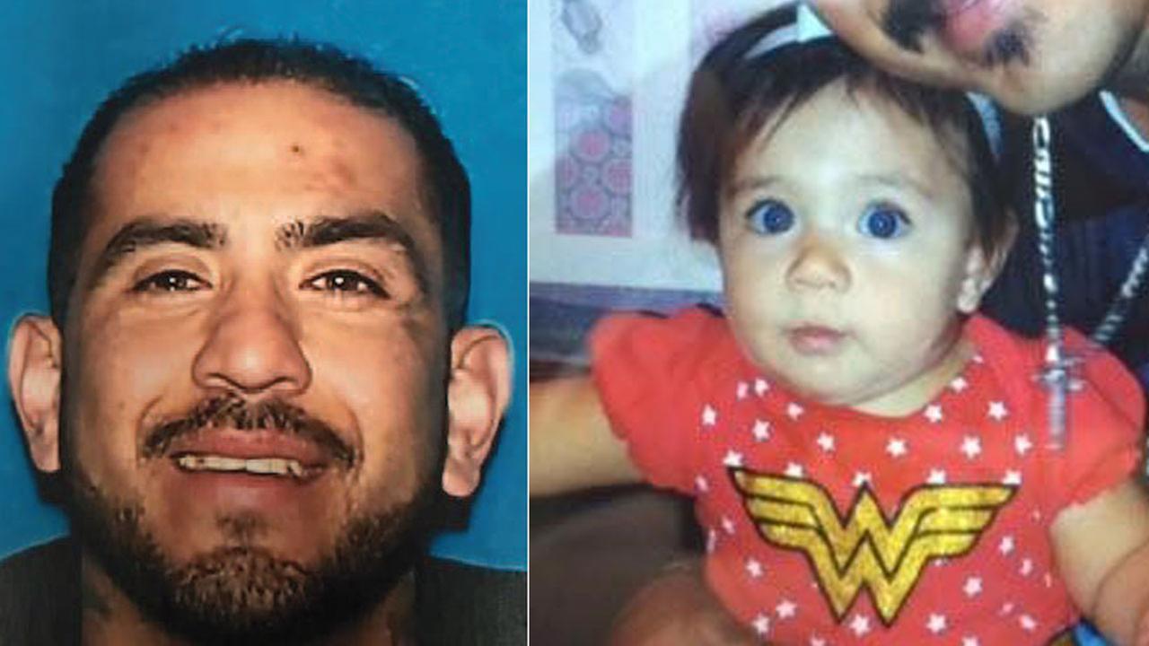 Daniel Segura, 38, is shown in a DMV photo alongside an undated photo of Lexi Segura, 1, of Rancho Cucamonga.