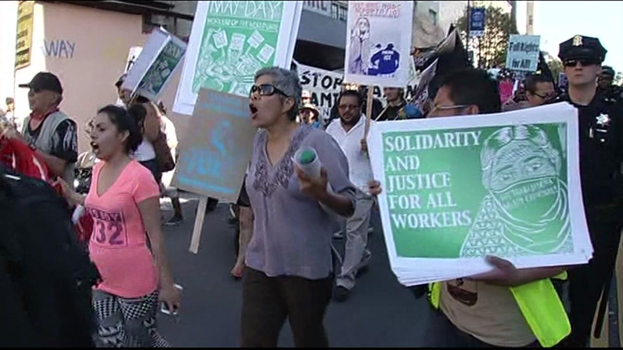 FILE -- May Day march in Bay Area.