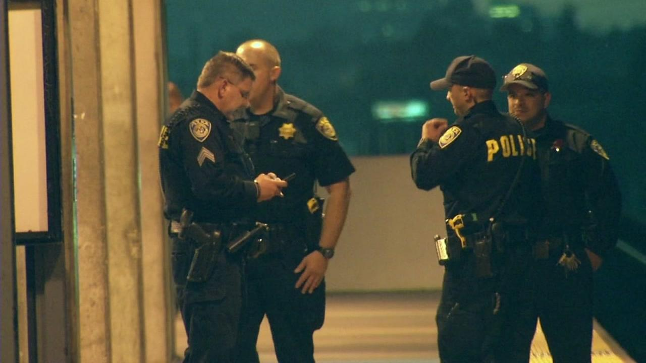 BART police are seen in Oakland, Calif. in this undated image.