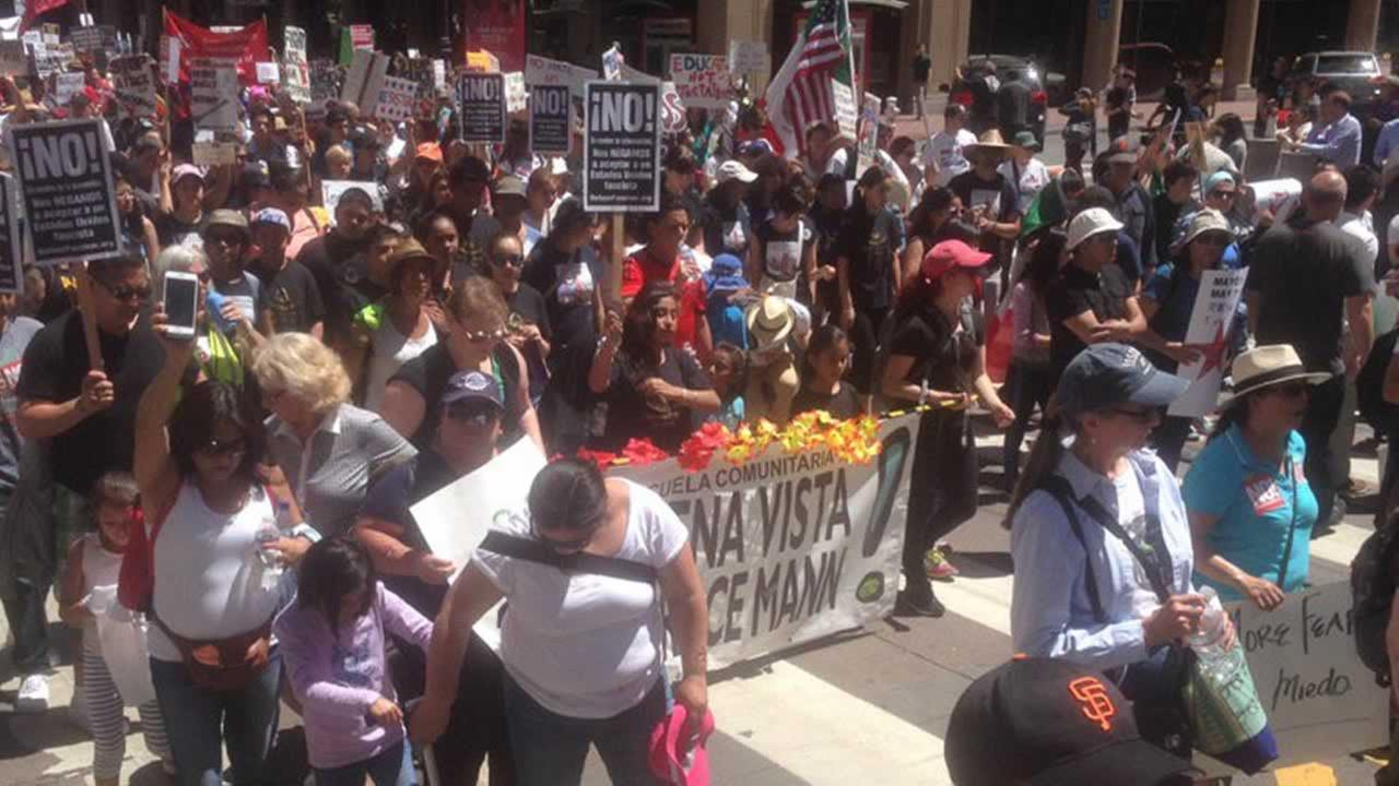 Thousands mark May Day with protests in San Francisco