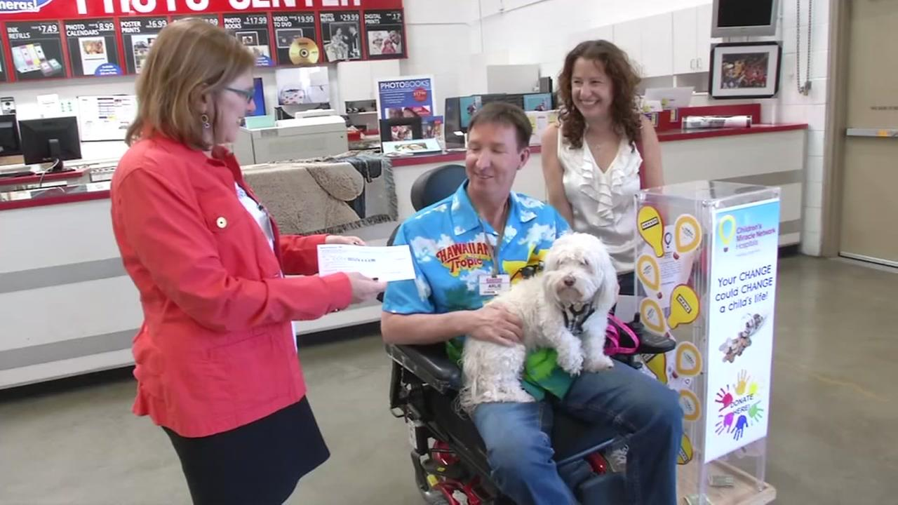 Costco employee Arlie Smith launched his fundraising campaign for the Childrens Miracle Network on Monday, May 1, 2017 in Danville, Calif.