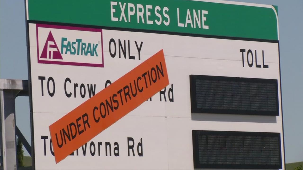 File -- Express lane on I-680 in Walnut Creek, California.