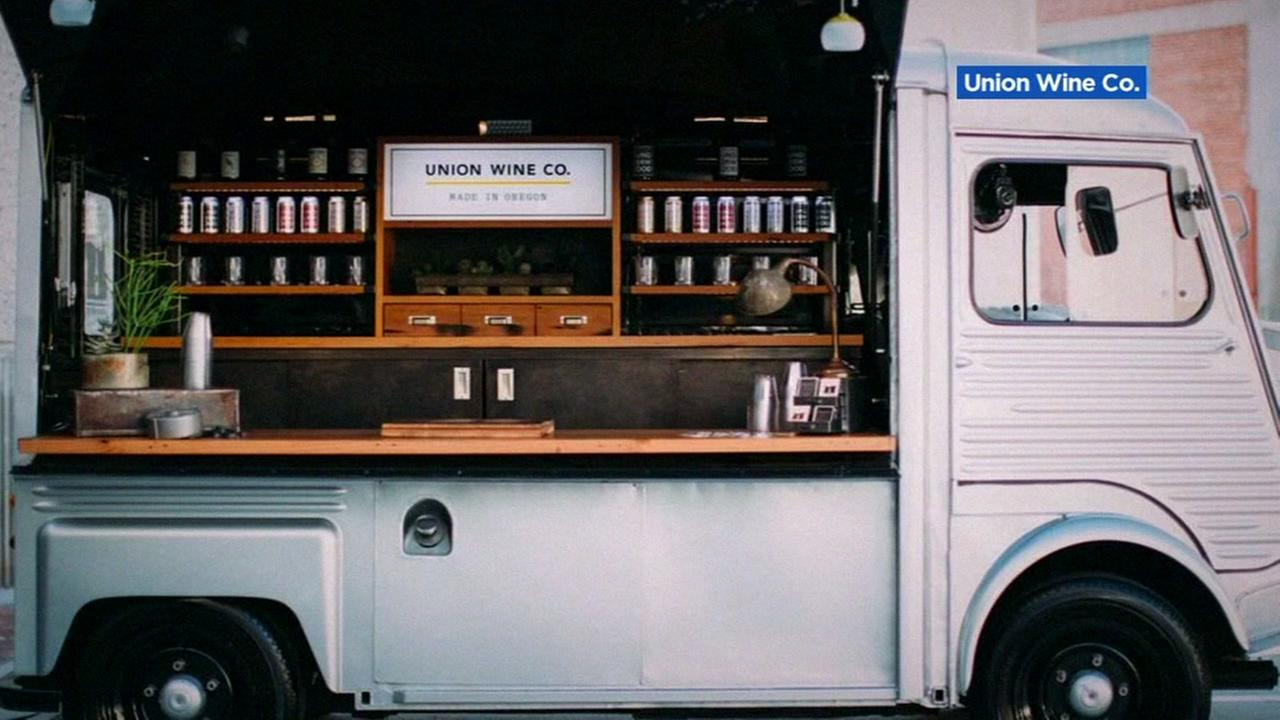 The Union Wine Companys mobile wine bar is pictured on their website.