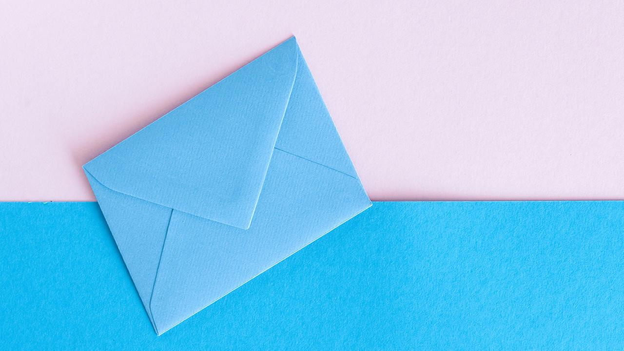 This is an undated image of an envelope.