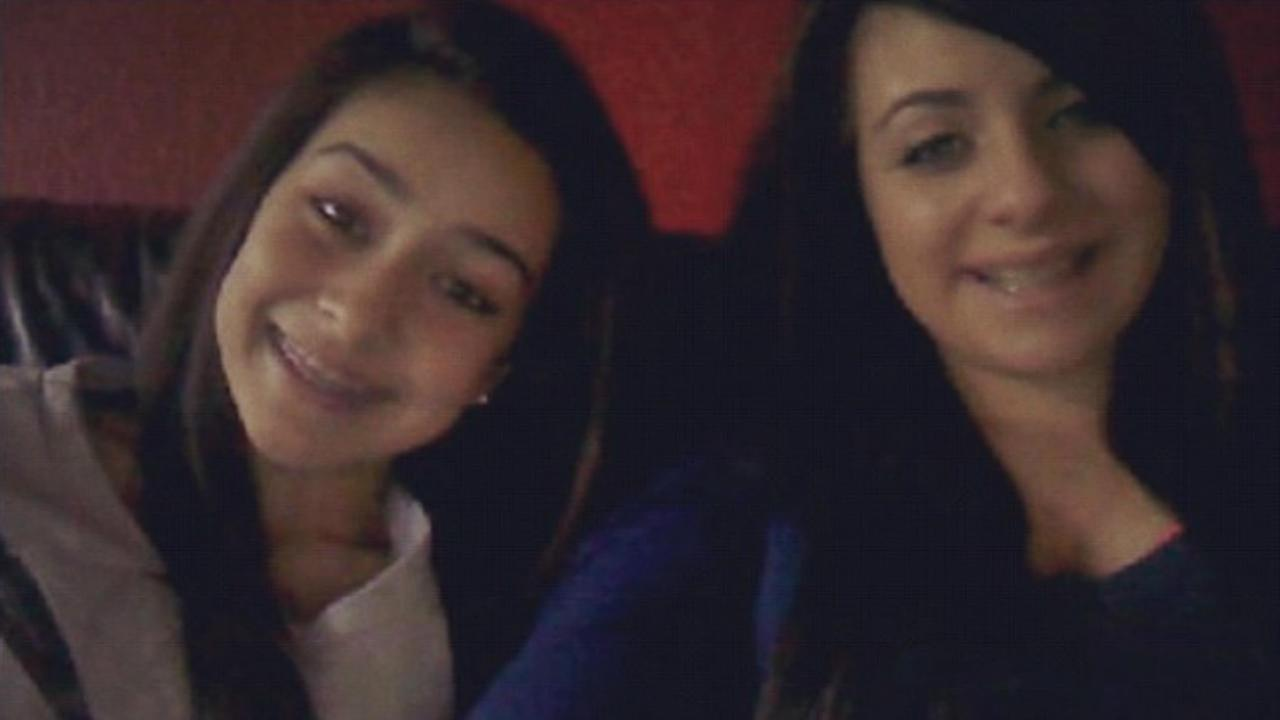 Sierra LaMar is seen with a high school friend in this undated image.