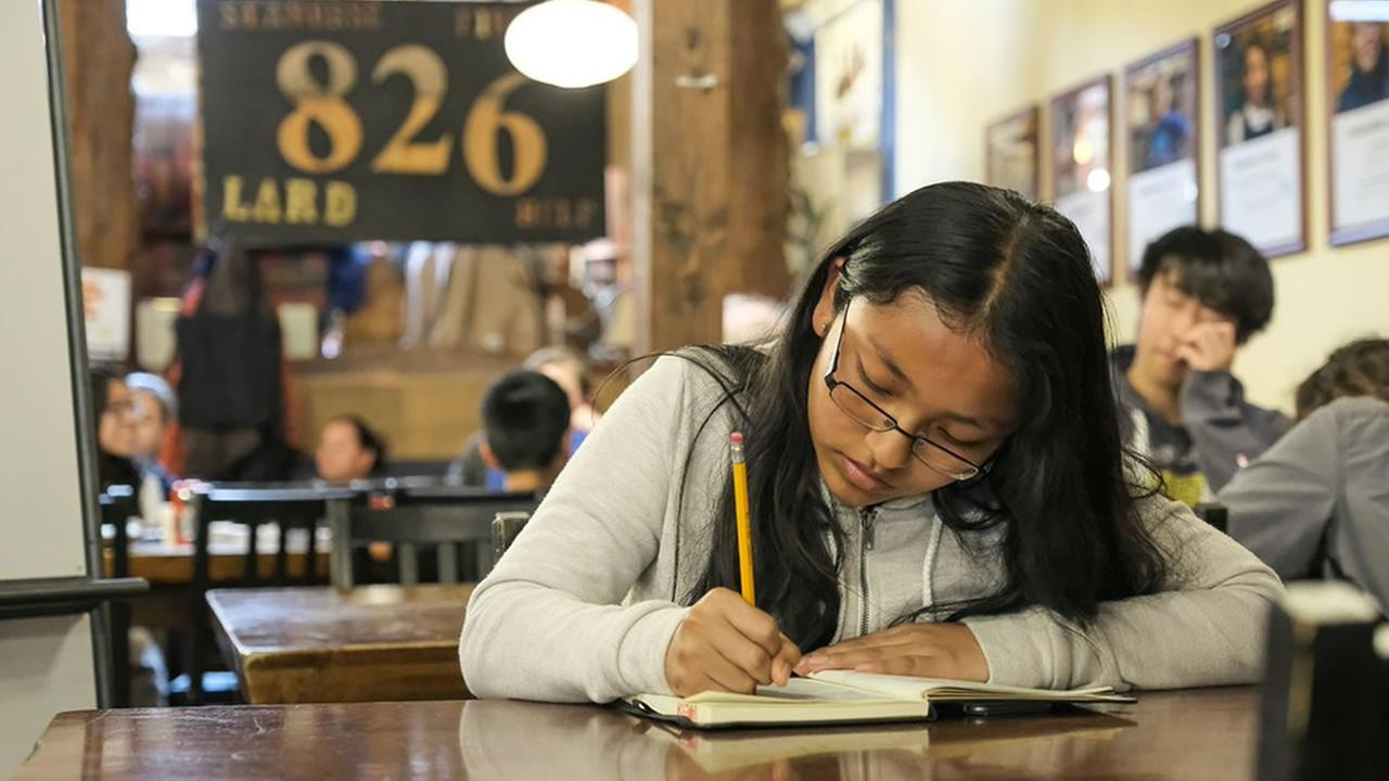 A student studies at 826 Valencia in San Franciscos Mission District on Monday, May 15, 2017.