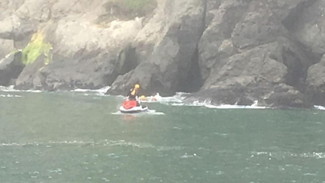 Swimmers rescued by Coast Guard and SFFD near China Beach and Lands End
