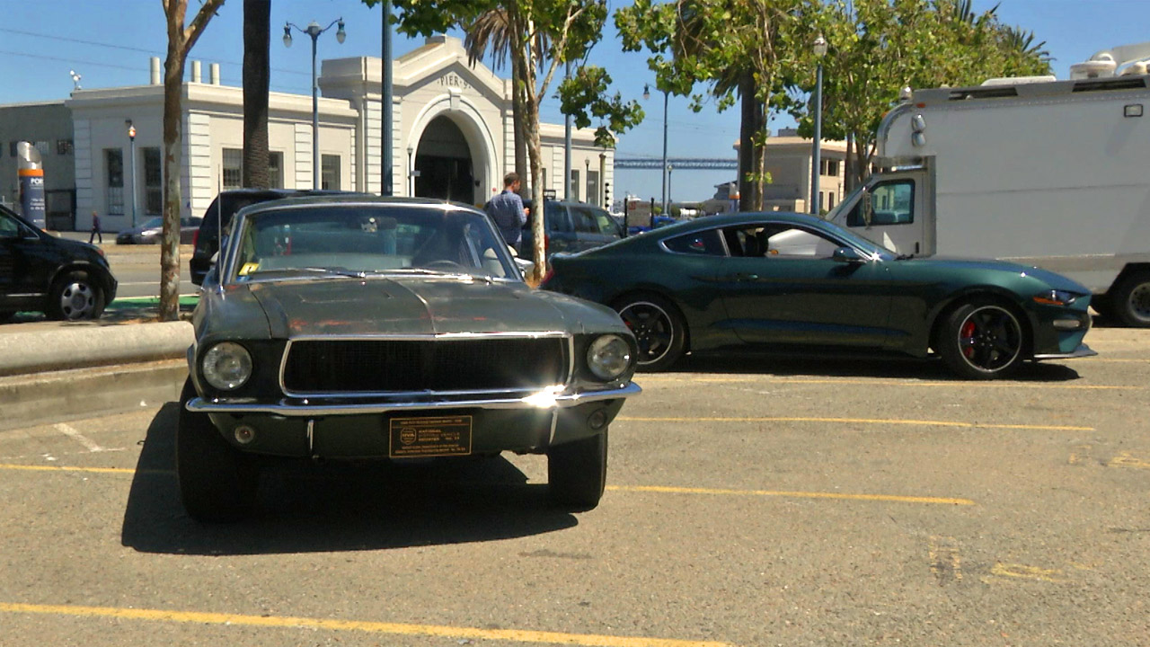The Mustang used in the car chase of the movie 'Bullitt ...