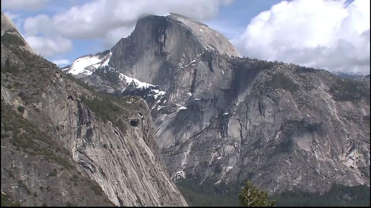 Half Dome is seen from a distance at Yosemite National Park in this file photo.