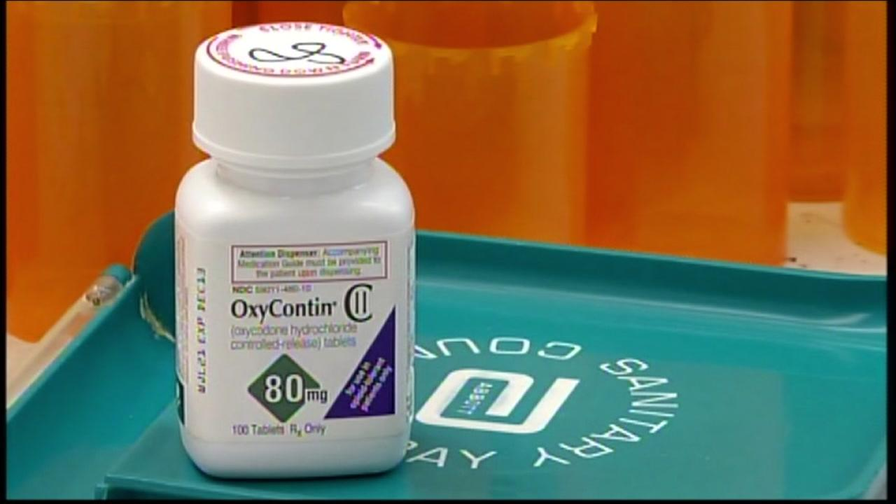 This is an undated image of a bottle of Oxycontin.