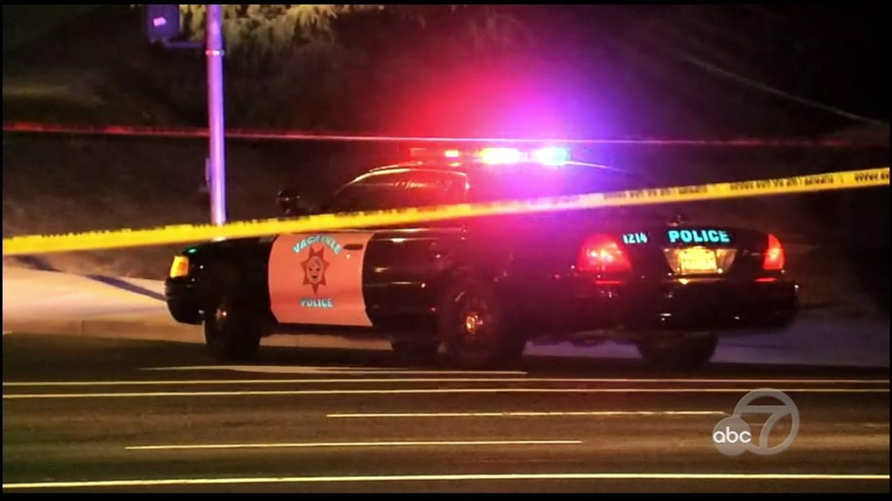 Fatal officer-involved shooting scene in Vacaville, California, Monday, May 29, 2017.