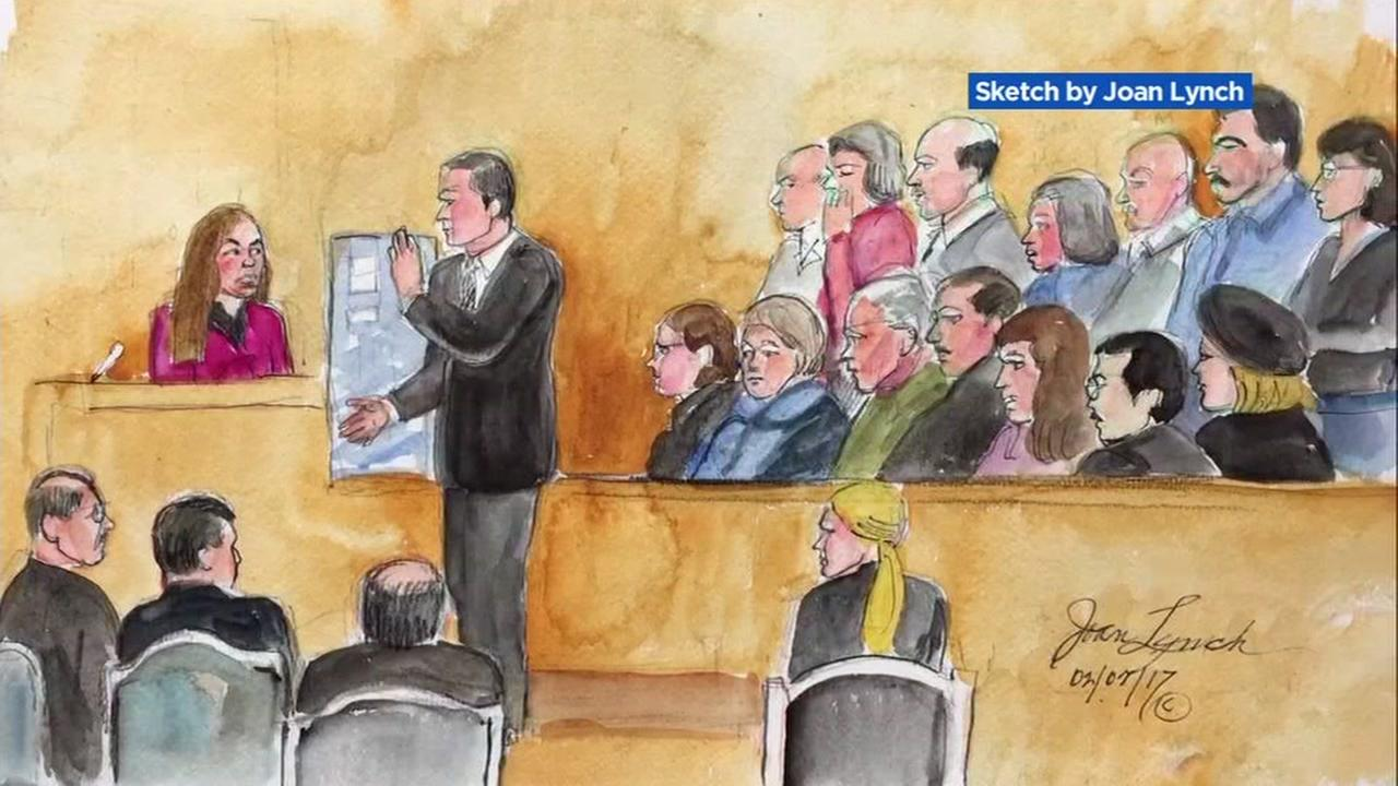 This is an undated courtroom sketch from the trial of Antolin Garcia-Torres.